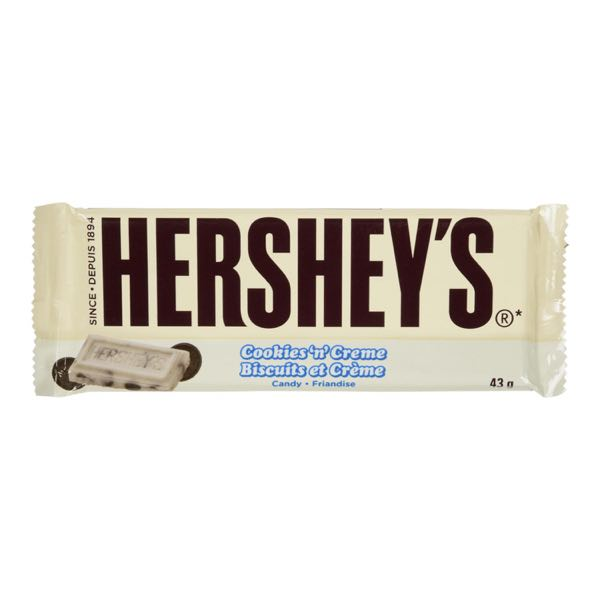 Hershey Cookie Cream Choc Bar