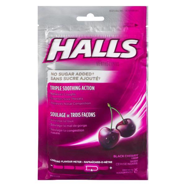 Halls Suc Fr Black Cherry Cough Drop