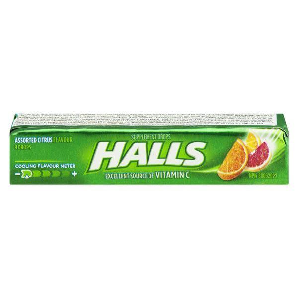 Halls Vitc Sup Asst Citrus Drop