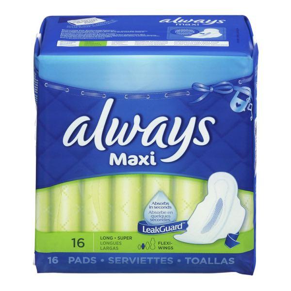 Always Sanit Napkin Maxi Long Plus Wing