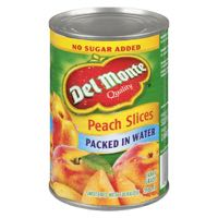 Del Monte Peach Slices N S A Can Fr