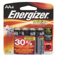 Energizer Max Alkal Batt Aa E91Bp4