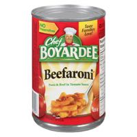 Chef Boyardee Beefaroni Can Meal
