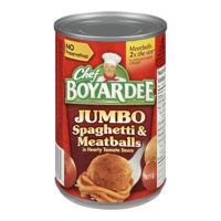 Chef Boyardee Spag Meatb Jumbo Can Meal