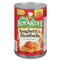 Chef Boyardee Spag Meatball Can Meal