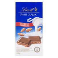 Lindt Swisscl Milk Almond Choc Bar