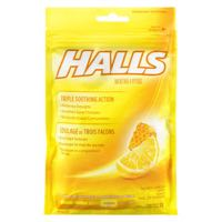 Halls Honey Lemon Cough Drop