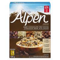 Alpen Dark Choc 70Perc Cocoa Mues Cer