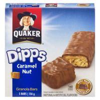 Quaker Dipps Caram Nut Ch Bar