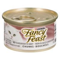 Fancy Feast Beef Flav Chunk Cat Food