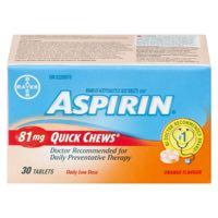 Aspirin Quick Chew 81Mg 30Tab