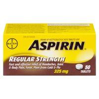 Aspirin 325Mg 50Tab
